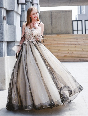 Black Quinceanera Dresses Luxury Tulle Ball Gowns Pearls Beaded Maxi Women Pageant Dress_1