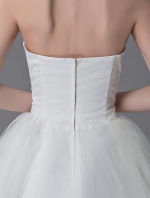 Tulle Wedding Dress Ivory Strapless Sleeveless Princess Dress Ball Gown Floor Length Bridal Dress Exclusive_10