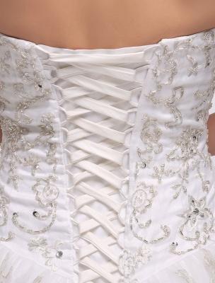 Ballkleid Brautkleid Sweatheart trägerlos bestickt Perlen Pailletten Brautkleid Kapelle Zug Brautkleid_10