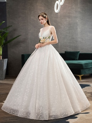 Princess-Wedding-Dresses-Ivory-Illusion-Neck-Beaded-Sleeveless-Floor-Length-Bridal-Gown_2