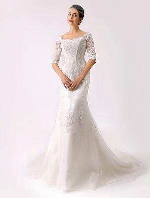 2021 Vintage inspiré de l'épaule robe de mariée en dentelle sirène exclusive_3