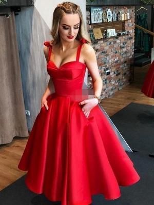 Vintage Brautkleid 1950er Jahre Rote Brautkleider Träger Plissee Brautkleider_2