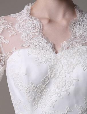 Kate Middleton Royal Wedding Dress Vintage Lace mit V-Ausschnitt und langen Ärmeln Exklusiv_9