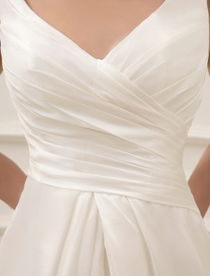 Simple Wedding Dresses Ivory Wedding Dress Knee-Length Backless Straps Lace Bridal Dress Exclusive_6