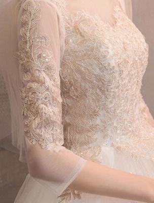 Tulle-Wedding-Dresses-Princess-Bridal-Gown-Illusion-Collar-Half-Sleeve-Floor-Length-Bridal-Dress_7