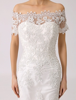 Vintage Inspired Off The Shoulder Mermaid Lace Wedding Dress Exclusive_6