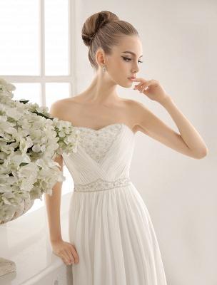 Strapless Tiered Wedding Dress In Floor-Length_5