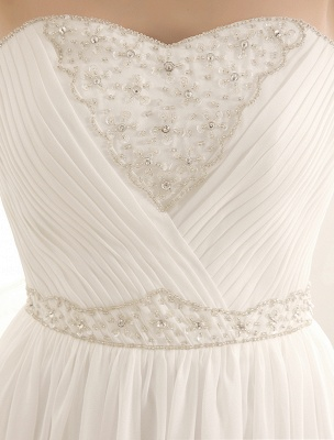 Strapless Tiered Wedding Dress In Floor-Length_7