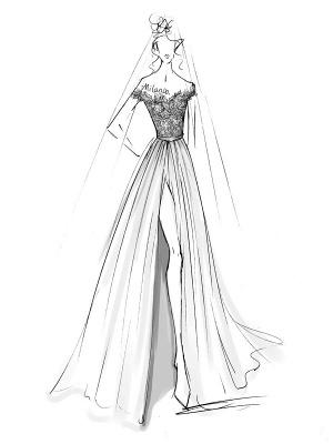 Boho Wedding Dresses 2021 Lace Off The Shoulder Short Sleeve Floor Length Split Front Bridal Dress With Train_6
