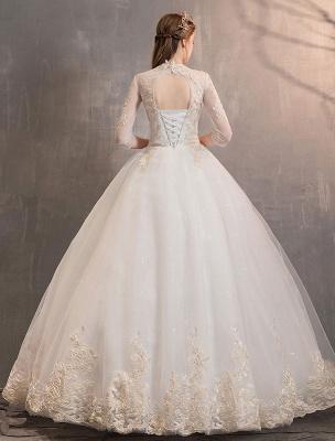 Tulle-Wedding-Dresses-Princess-Bridal-Gown-Illusion-Collar-Half-Sleeve-Floor-Length-Bridal-Dress_6