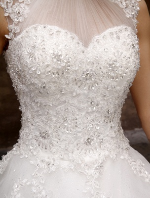 Wedding-Dresses-Ball-Gown-Bridal-Dress-Lace-Applique-Open-Back-High-Collar-Sequins-Rhinestones-Floor-Length-Bridal-Dress_7