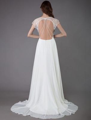 Strand-Hochzeitskleider-Spitze-Satin-A-Linie-Elfenbein-Luxus-Rücken-Kreuz-High-Split-Sommer-Brautkleider-Mit-Zug_8