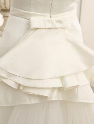 Elfenbeinfarbenes A-Linien-Brauthochzeitskleid mit schulterfreien Rüschen Exklusiv_8
