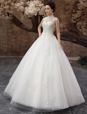 Wedding-Dresses-Ball-Gown-Bridal-Dress-Lace-Applique-Open-Back-High-Collar-Sequins-Rhinestones-Floor-Length-Bridal-Dress_4