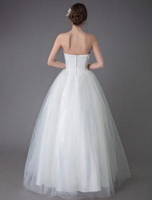 Tulle Wedding Dress Ivory Strapless Sleeveless Princess Dress Ball Gown Floor Length Bridal Dress Exclusive_7