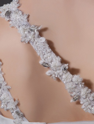 Ivory One-Shoulder Ruched Organza Mermaid Wedding Dress_10