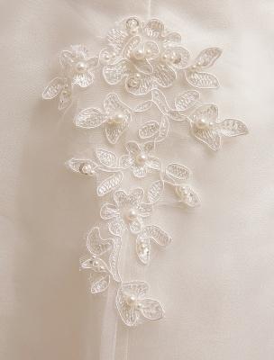 Kurze Brautkleider Elfenbein Spitze Applique Vintage Brautkleid Illusion Schatz Offener Rücken Tee Länge Brautkleider Exklusiv_7