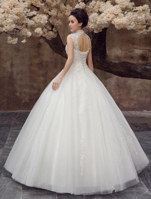 Wedding-Dresses-Ball-Gown-Bridal-Dress-Lace-Applique-Open-Back-High-Collar-Sequins-Rhinestones-Floor-Length-Bridal-Dress_5