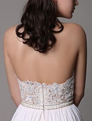 White Prom Dresses 2021 Long Ivory Halter Backless Evening Dress Lace Applique Beading Chiffon Split Party Dress_11