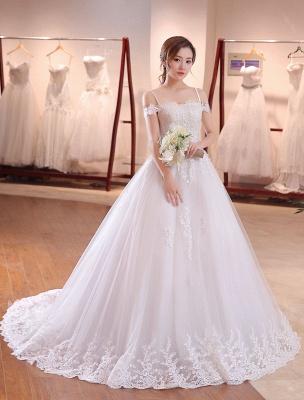 Prinzessin-Hochzeit-Kleider-Off-The-Shoulder-Brautkleid-Träger-Spitze-Applikation-Perlen-Brautkleid-Mit-Langen-Zug_3