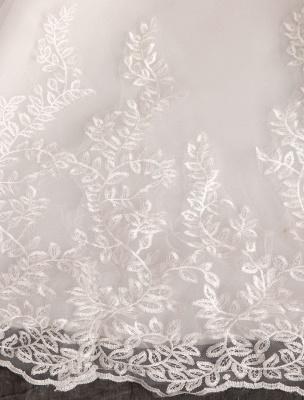 Prinzessin Brautkleider Spitze Illusion Ausschnitt Halbarm Bodenlangen Brautkleid_18