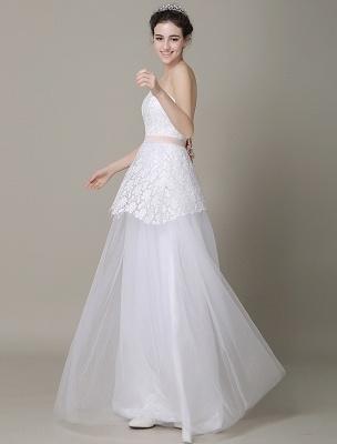 Elfenbein-Hochzeit-Kleid-Trägerlos-Rückenlos-Schärpe-Tüll-Brautkleid-ExklusivEx_3