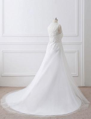 Weißes Hochzeitskleid Queen Anne Brautkleid mit Schärpe und Spitze_5