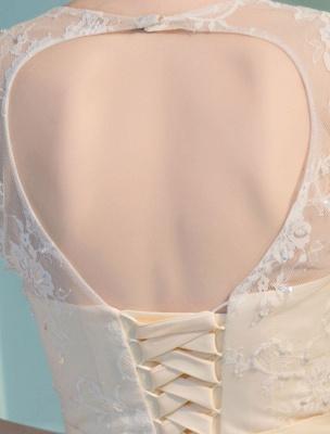 Meerjungfrau Brautkleider Spitze Halbarm Illusion Schatz Perlen Schlüsselloch Brautkleid mit Zug_9