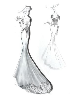 Brautkleider Jewel Neck Long Sleeves Lace Mermaid Brautkleider mit Kleid_4