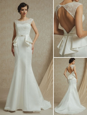 Lace Wedding Gown With Mermaid Sweep ( Veil & Accessories Are Excluded )_1
