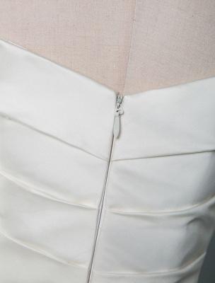 Vintage Brautkleid Meerjungfrau Schulterfrei Ärmellos Plissee Satin Stoff Mit Zug Traditionelle Kleider Für Die Braut_6