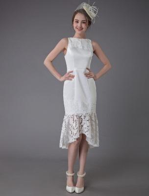Kurzes Brautkleid Vintage Jewel Ärmelloses Etui-Brautkleid Exklusiv_2
