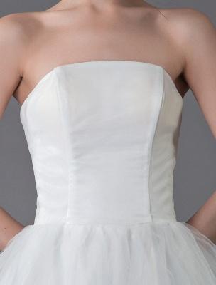 Tulle Wedding Dress Ivory Strapless Sleeveless Princess Dress Ball Gown Floor Length Bridal Dress Exclusive_9