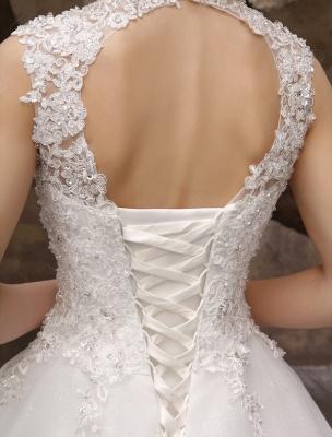 Wedding-Dresses-Ball-Gown-Bridal-Dress-Lace-Applique-Open-Back-High-Collar-Sequins-Rhinestones-Floor-Length-Bridal-Dress_8
