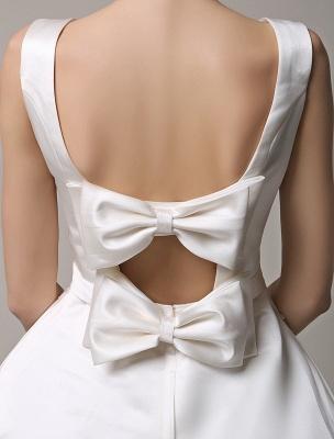 Vestido de novia de encaje con espalda descubierta y cuello barco con bolsillos de inserción Exclusivo_6