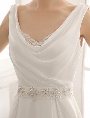 Exklusives Brautkleid mit Umlegekragen und plissiertem Satin_6
