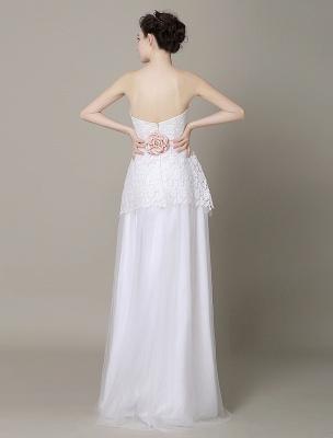 Elfenbein-Hochzeit-Kleid-Trägerlos-Rückenlos-Schärpe-Tüll-Brautkleid-ExklusivEx_5