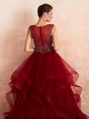 Ball Gown Wedding Dress Princess Floor Length V Neck Sleeveless Sequins Tulle Bridal Dresses_7