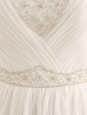Strapless Tiered Wedding Dress In Floor-Length_6