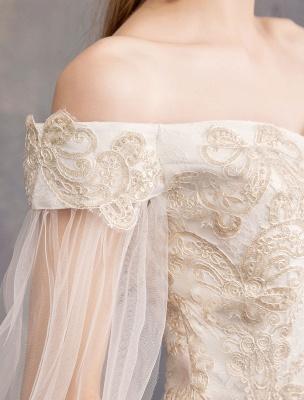 Brautkleider-Tüll-Off-The-Shoulder-Kurzarm-Spitze-Applikation-Prinzessin-Brautkleid_9
