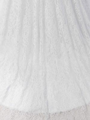 Meerjungfrau Brautkleid Weiß Spitze Fit And Flare Brautkleid Schatz Trägerlosen Zug Fischschwanz Brautkleid Mit Abnehmbarer Strass Schärpe_11