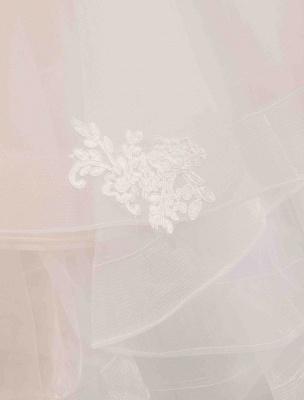 Elfenbein Brautkleider Tüll Illusion Ausschnitt Halbarm Bodenlangen Prinzessin Brautkleid_7