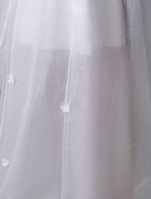 Asymmetrical Organza Wedding Dress High Low A-Line With Lace Beading Flower Exclusive_8