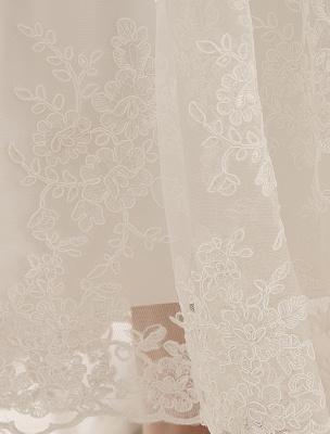 Ivory Simple Wedding Dresses 2021 Lace Applique V Neck Ribbon Sash Short Bridal Dress Exclusive_6
