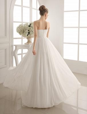 Strapless Tiered Wedding Dress In Floor-Length_4