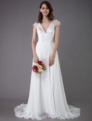 Strand-Hochzeitskleider-Spitze-Satin-A-Linie-Elfenbein-Luxus-Rücken-Kreuz-High-Split-Sommer-Brautkleider-Mit-Zug_1