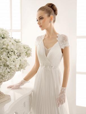 Vestido de novia con escote en pico y encaje hasta el suelo exclusivo_5