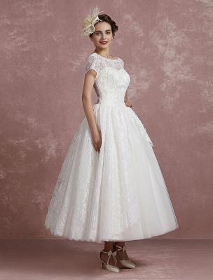 Princess Wedding Dress Lace Vintage Bridal Gown Sweetheart Illusion Short Sleeve Back Design Ball Gown Bridal Dress In Ankle Length Exclusive_5