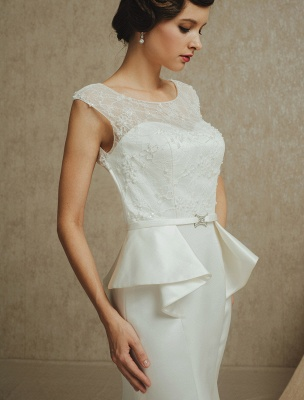 Lace Wedding Gown With Mermaid Sweep ( Veil & Accessories Are Excluded )_7