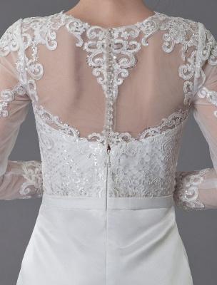 Vintage Brautkleider Jewel Langarm Etui Kurzes Brautkleid Exklusiv_10